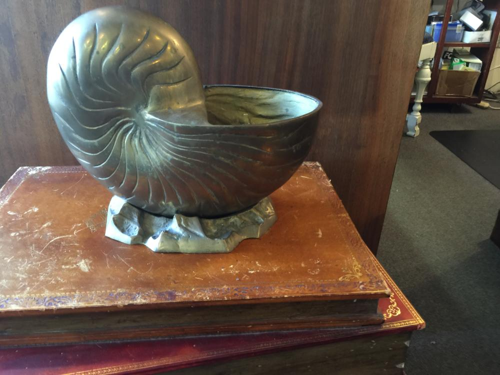 Lot 234: Brass nautilus shell vintage
