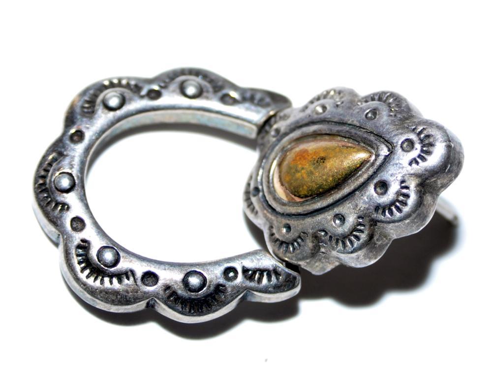 Lot 241: Vintage sterling earrings hoop