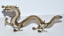 Lot 245: DragonChinese statue silver tone