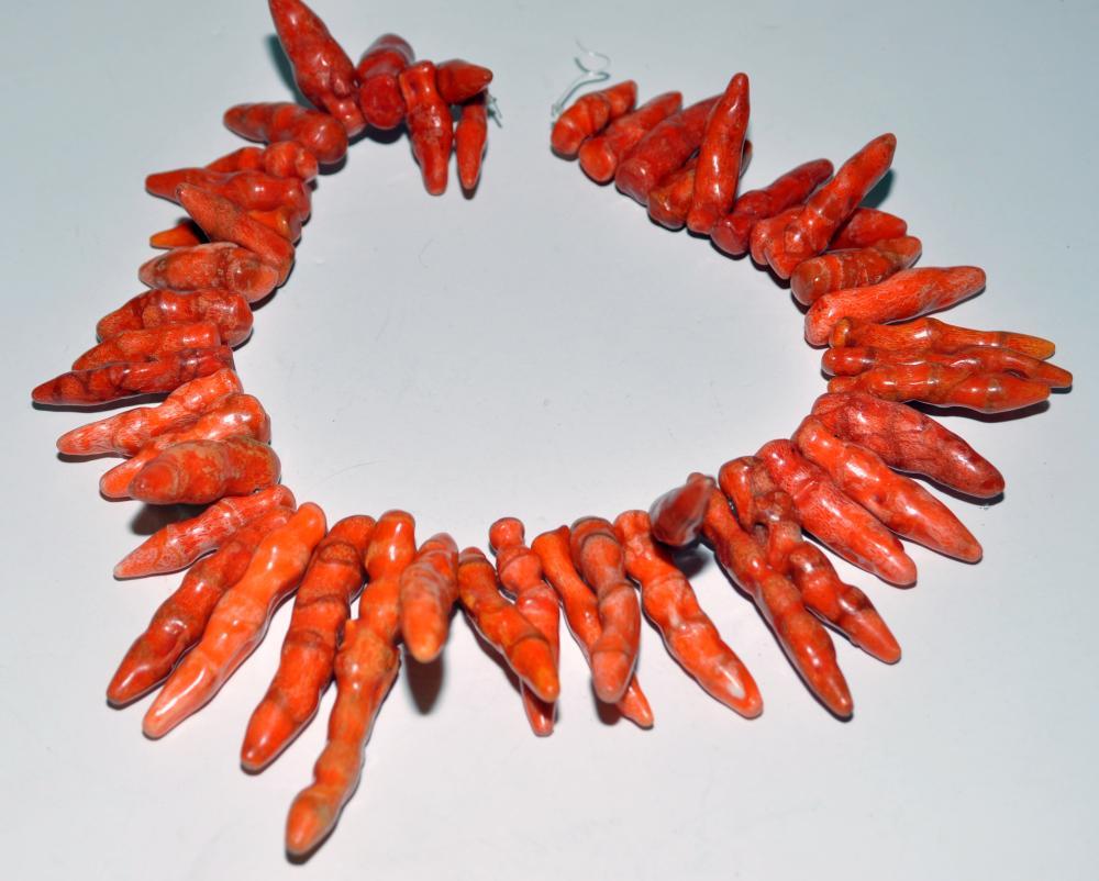 Coralred pepper strand