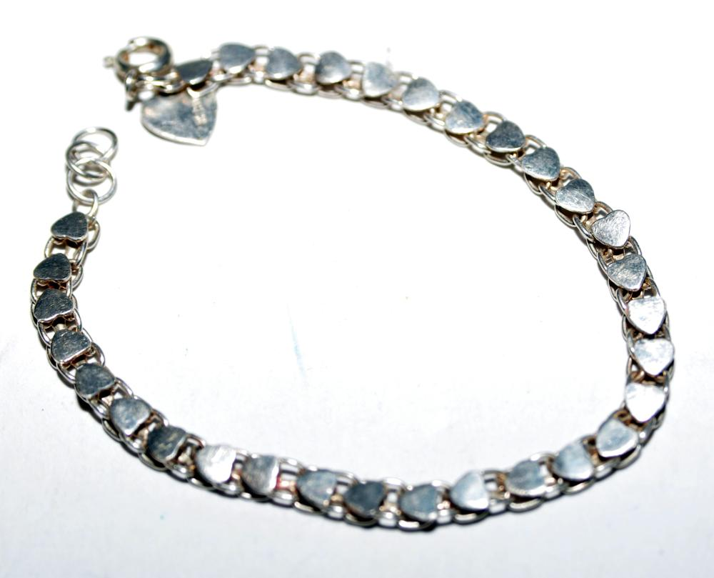 Sterling heart vintage bracelet