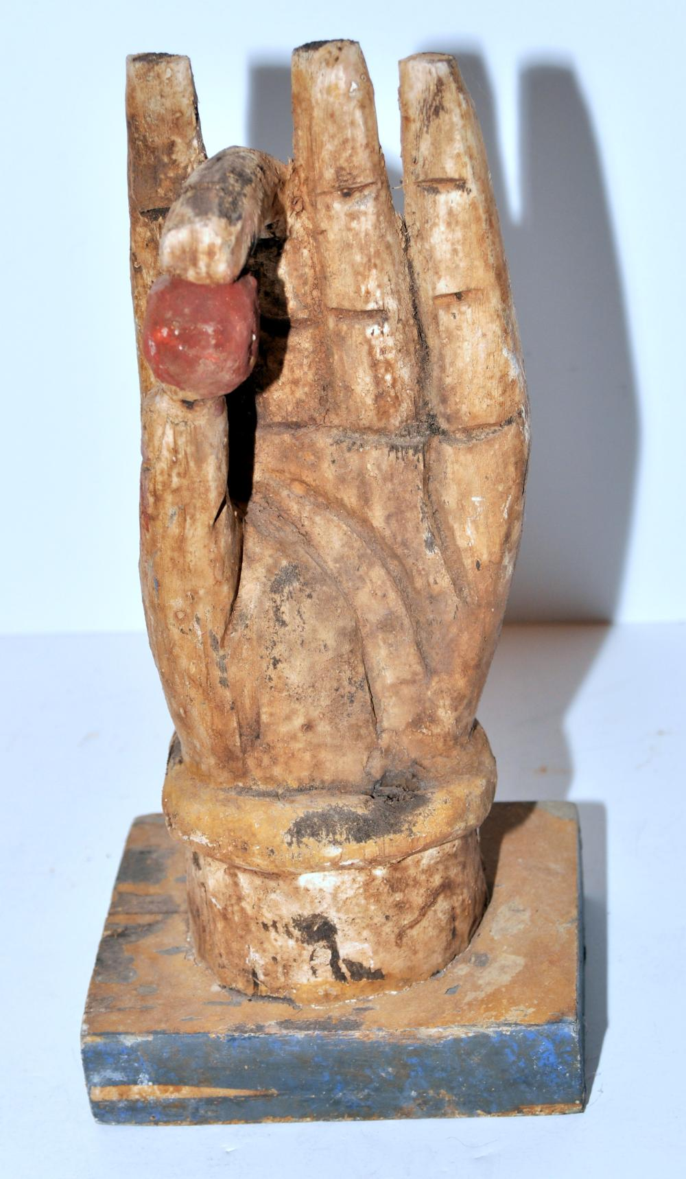 Buddha carved hand of wisdom