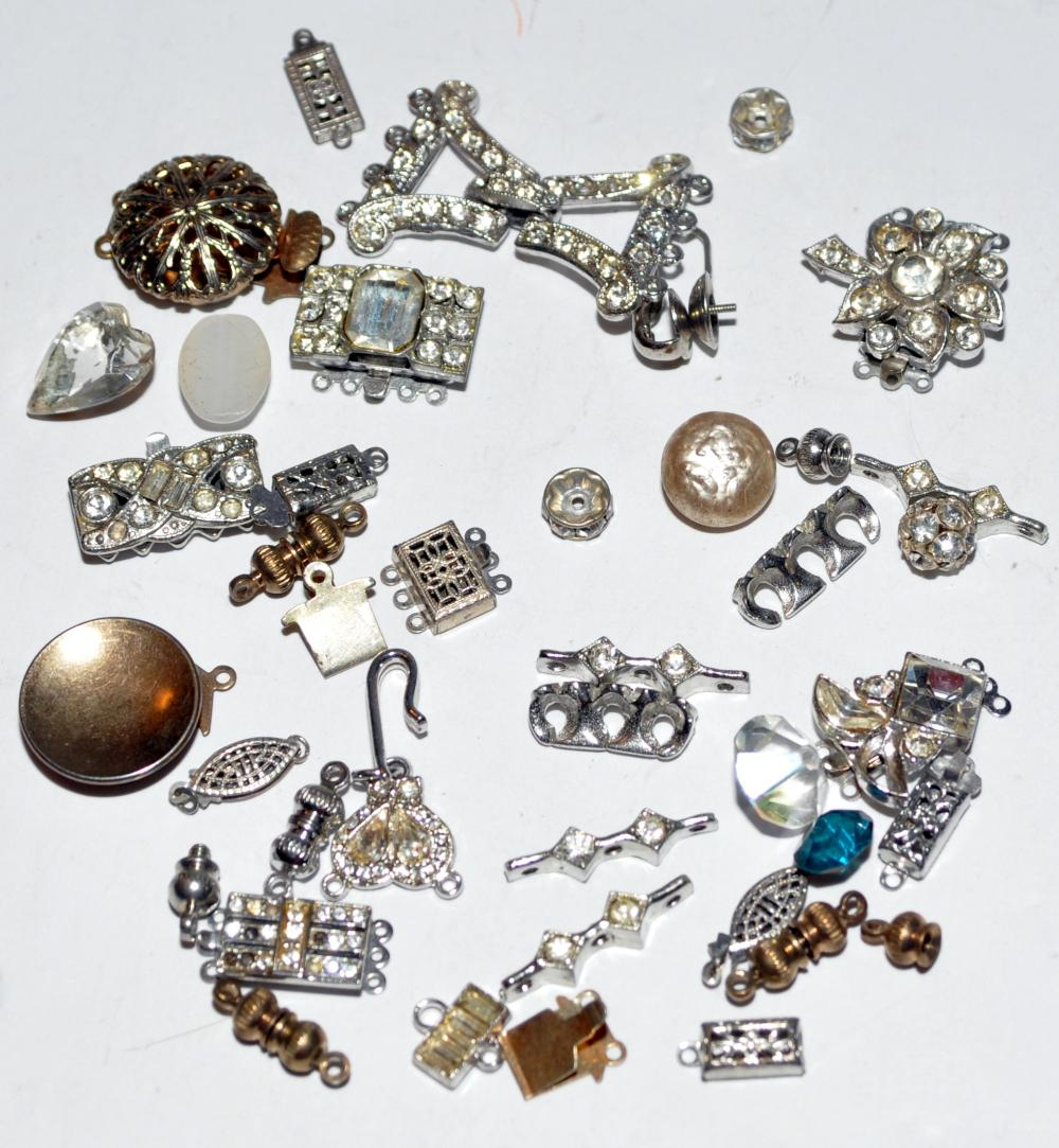 Rhinestone vintage clasps  findings