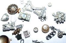 Lot 283: Rhinestone vintage clasps findings