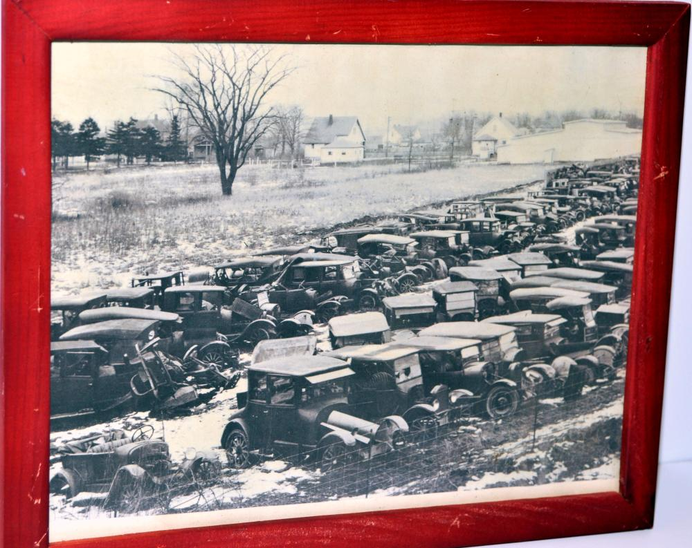 Auto junkyard antique photo