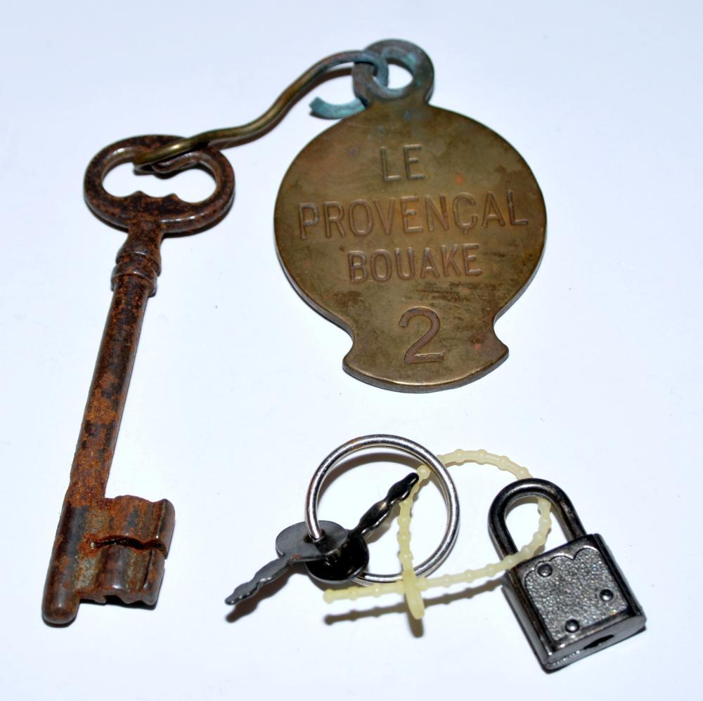 Vintage hotel key +