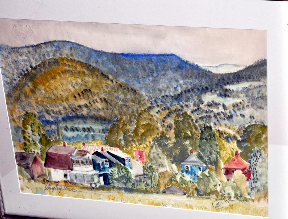 Lot 297: Hayley Lever watercolor Woodstock NY