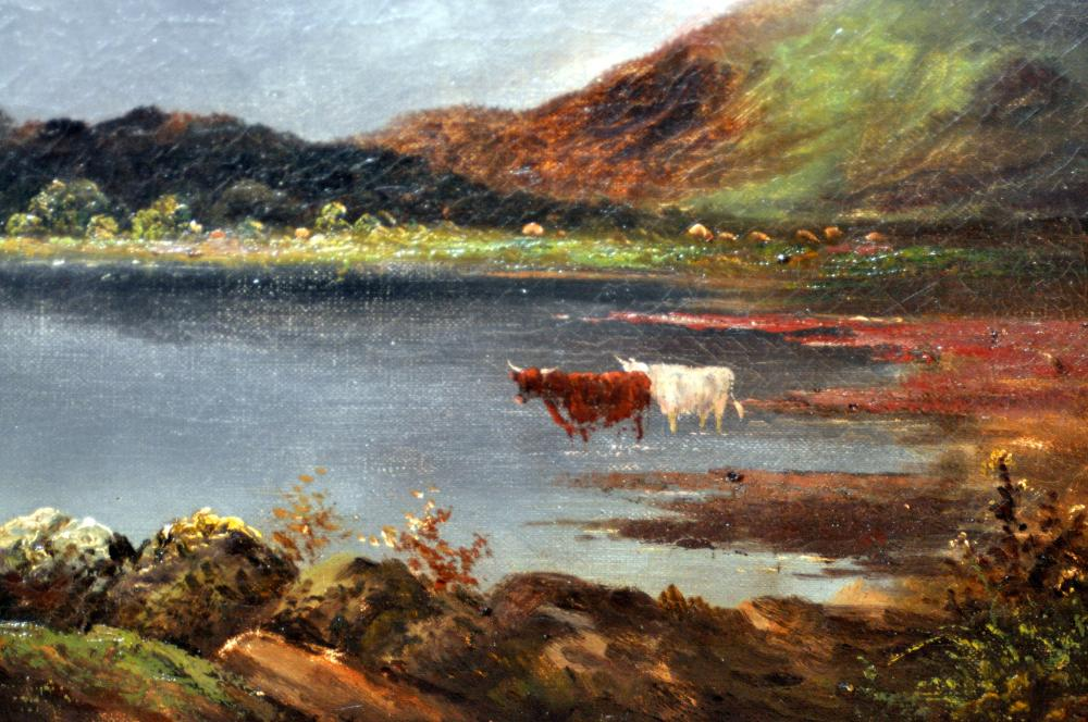 Lot 299: Oil paintings Signed Clement Adams 19th c