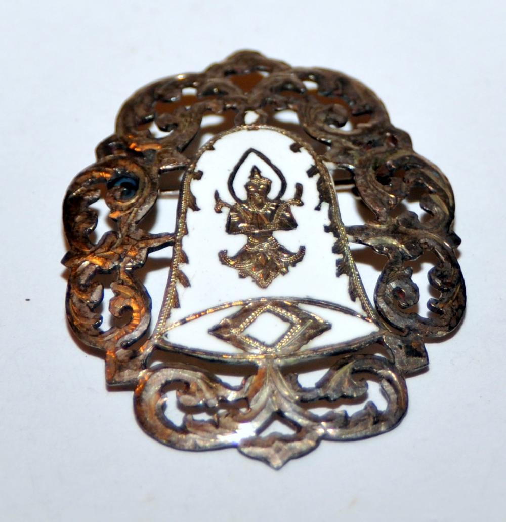 Sterling Siamese pin vintage