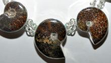 Lot 315: Sterling silver ammonite necklace