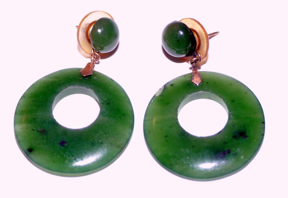 14k jade hoops circle