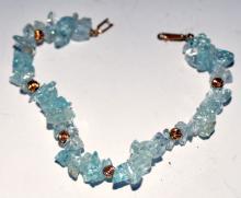 Lot 322: Aquamarine gold bracelet