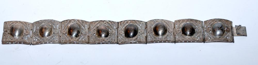 Vintage  silver  bracelet vintage wirework