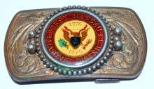Lot 328: Masons belt buckle Nassau