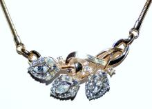 Lot 334: Rhinestone Trifari necklace vintage