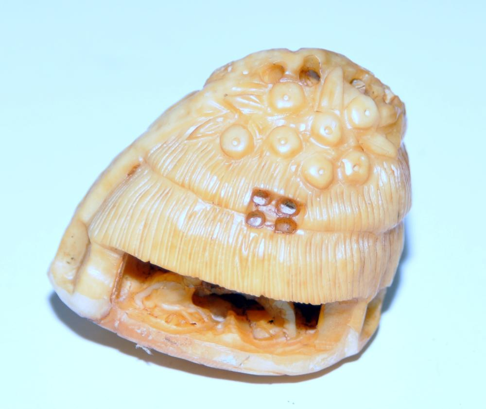Lot 355: Netsuke walrus vintage carved
