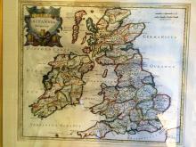 British Isles map 1695 Robert Morden