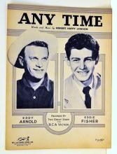 Anytime sheet music Eddie Fisher + Eddy Arnold
