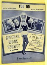 You Do sheet music Betty Grable