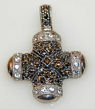 Sterling marcasite cross