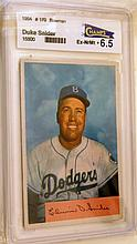 Signed BB card Duke Snider 1954 Bowman