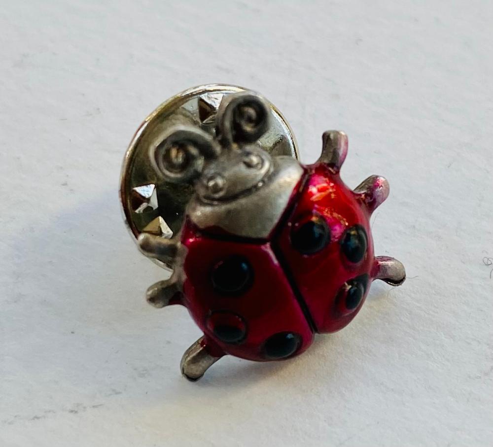 Ladybug enamel tie tac or collar pin