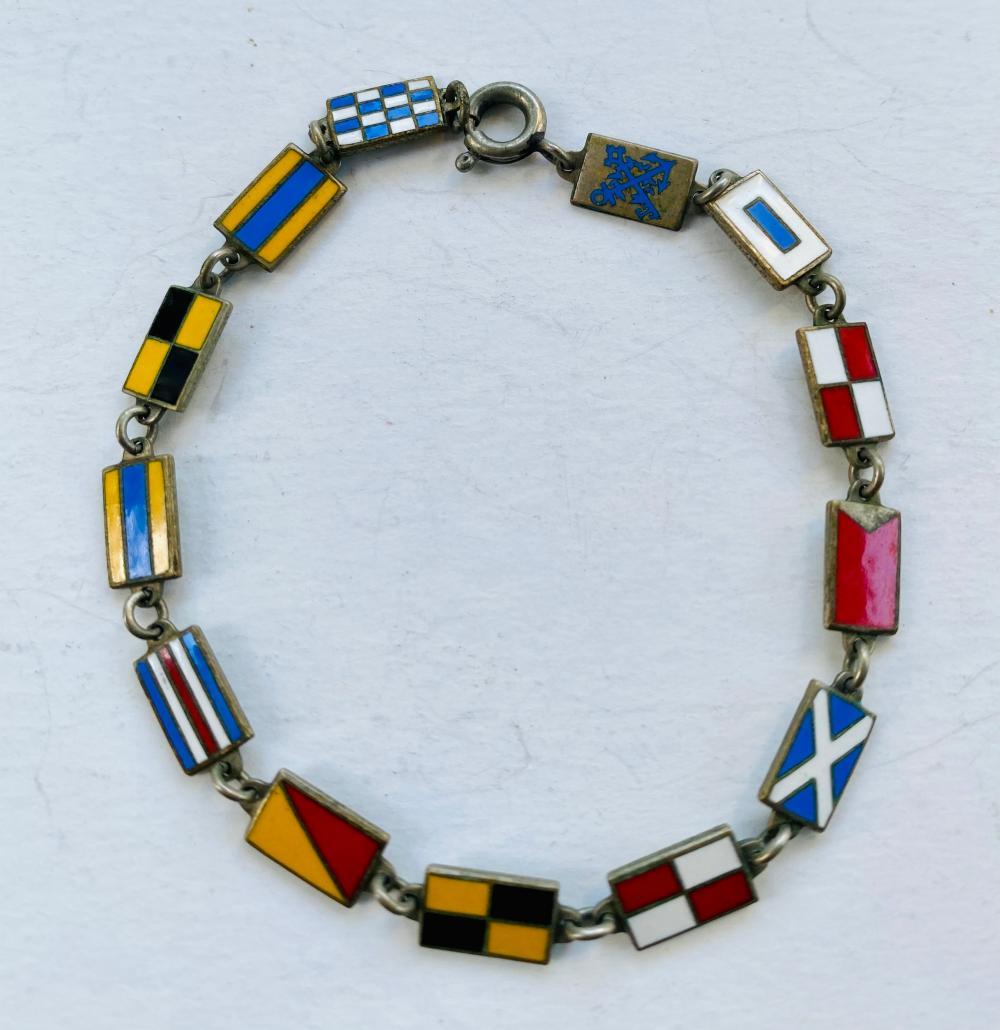 Enamel flag vintage bracelet