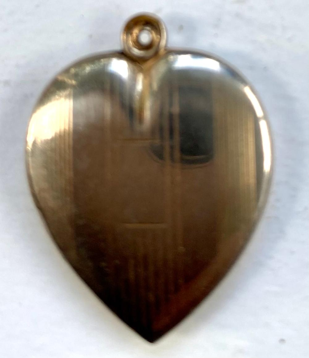 Heart sterling pendant - 1 inch