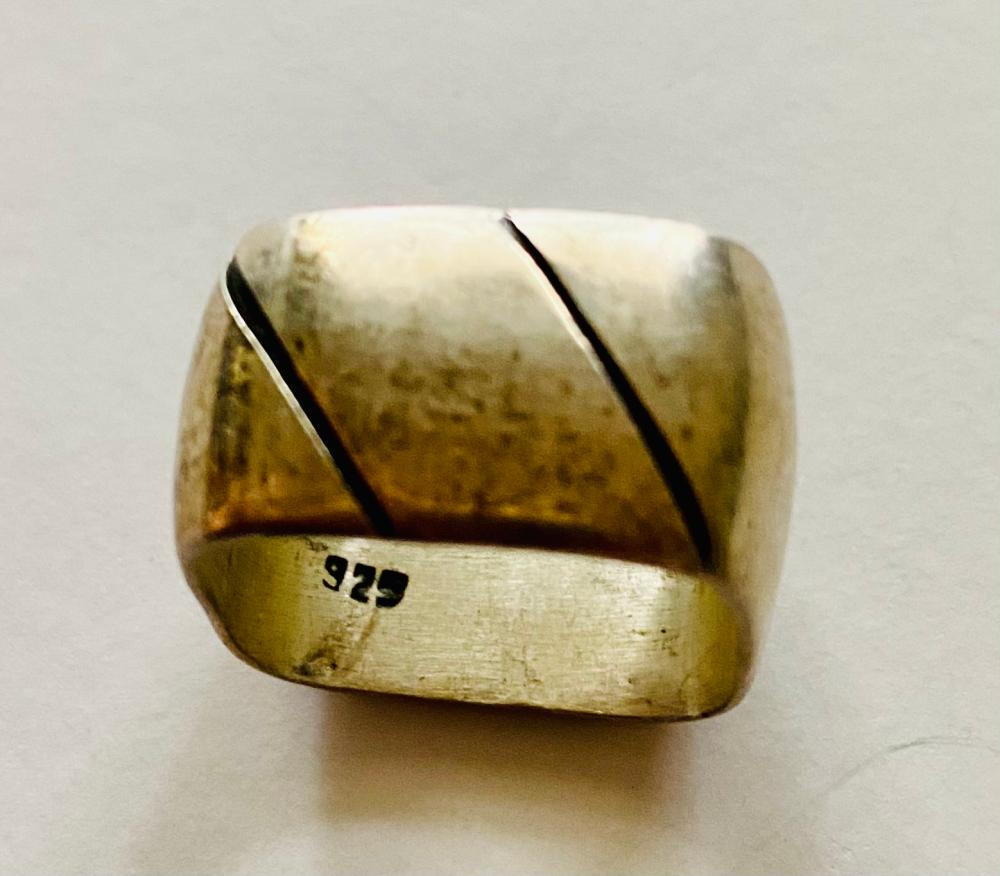 Mexico sterling square band ring