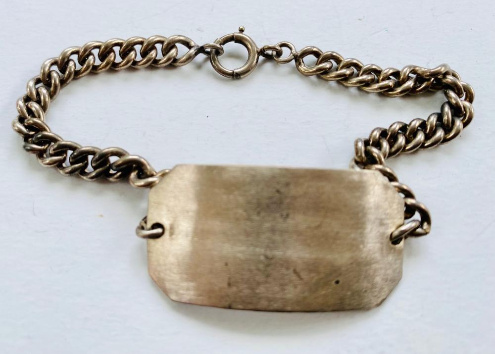 Sterling ID bracelet - old