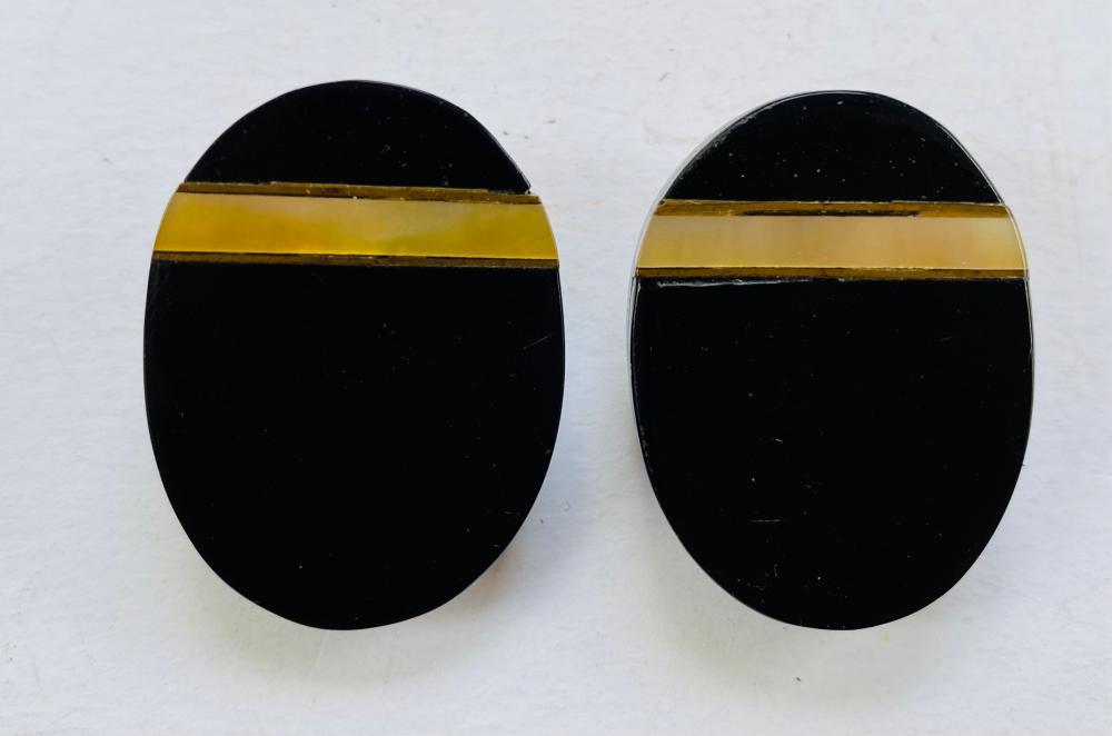 Onyx shell earrings designer