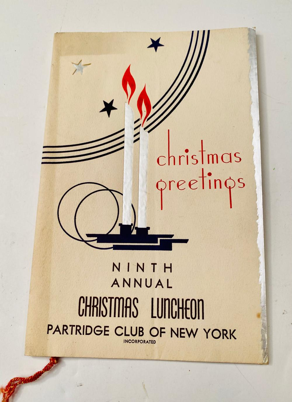 Christmas Luncheon 9th Annual Partridge Club of NY
