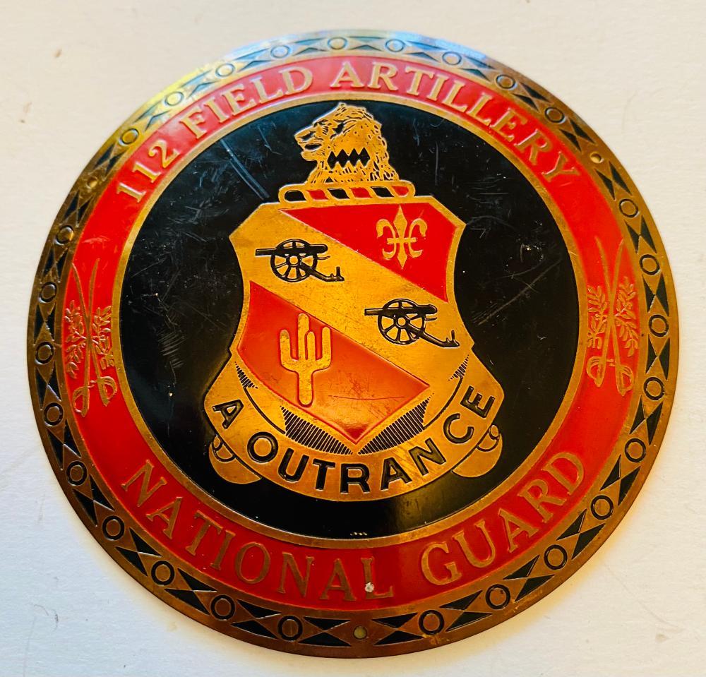 WWII door plaque National Guard