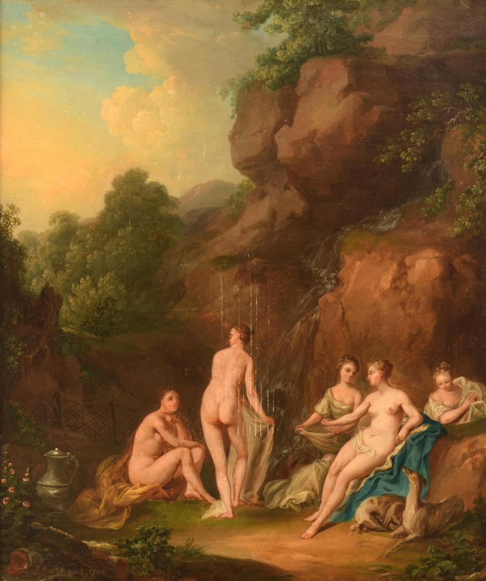 Jean Baptiste Achard, Diana bathing, dated 1720, 49 x 59,5 cm