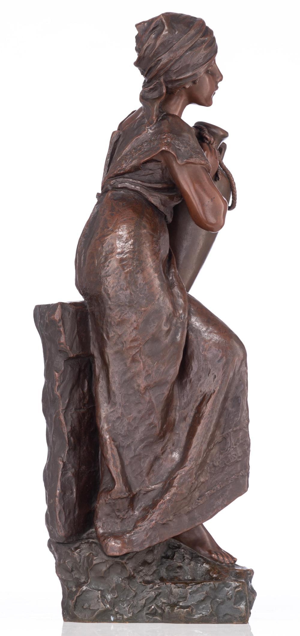 Emmanuel Villanis (1858 - 1914), Rebecca near the well, H 66,5 cm