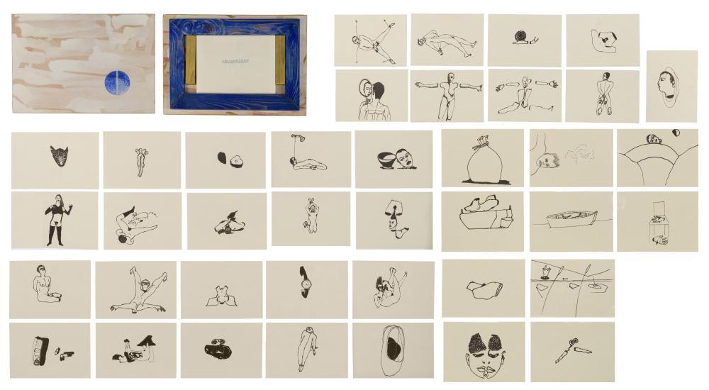 Francesco Clemente (1952), 'Hemispheres', 1996, 27,5 x 40 cm