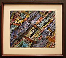 Hyman J. Warsager Abstract Modern painting