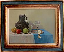 Robert Brackman (1898-1980) oil on copper panel