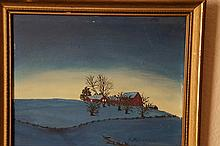 Americana / Folk painting landscape style of Rockwell Kent