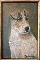 Folk Art Naif Portrait of a Dog