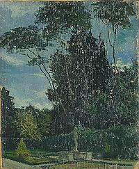 Marco Calderini Angolo di giardino Olio su