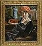 Giuseppe Pennasilico Giovane donna alla scrivania, Giuseppe Pennasilico, Click for value