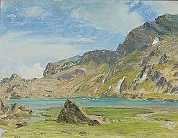 Marco Calderini Il lago Cian presso Torgnon Olio