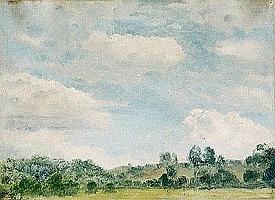 Marco Calderini Torino 1850-1941 Paesaggio Olio su cartone, firmato in basso a sinistra Cm. 24,5x33