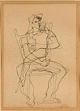 Clovis Graciano Mid-Century Drawing