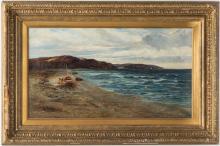 Walter Danks, O/C, Genre Scene of Fishermen