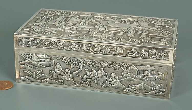 Chinese Export Silver Box
