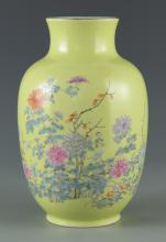 Chinese Porcelain Vase, Chrysanthemum Decoration