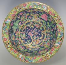 Large Chinese Famille Rose Enameled Bowl
