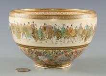 Meiji Satsuma Thousand Butterflies Bowl